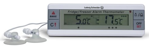 Ludwig Schneider  Digital Thermometers for Simultaneous Monitoring of Freezer and Fridge